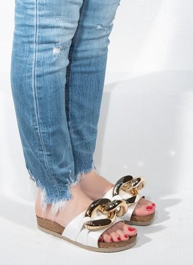 Nemesis Shoes Nemesis Shoes Kadın Terlik Beyaz